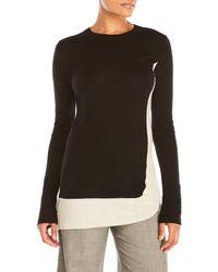 Sharon Wauchob - Black Color Block Wool Tunic Sweater - Lyst