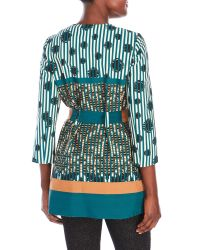 Manila Grace - Green Belted Trench Jacket - Lyst
