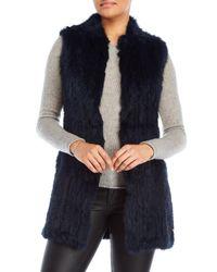 Love Token - Blue Alexa Long Real Fur Vest - Lyst