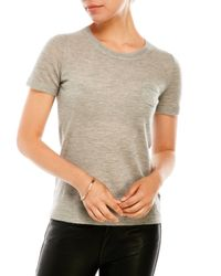 Elie Tahari - Gray Slone Short Sleeve Cashmere Sweater - Lyst