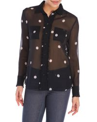 kate spade new york | Multicolor Tiny Spotlight Chiffon Shirt | Lyst
