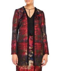 T Tahari | Red Lanie Jacket | Lyst