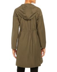 Eileen Fisher | Green Hooded Long Jacket | Lyst