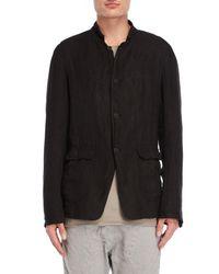 Poeme Bohemien Black Linen Jacket
