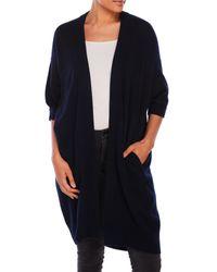 VINCE | Blue Long Open Sweater Jacket | Lyst