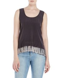 Gypsy 05 - Black Double Layer Hem Tank Top - Lyst