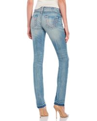 True Religion | Blue Low Rise Straight Billie Jeans | Lyst