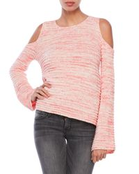 John + Jenn | Pink Cold Shoulder Sweater | Lyst