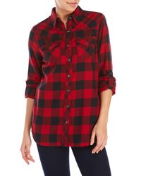 True Religion - Red Plaid Cowgirl Shirt - Lyst