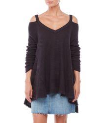 Free People | Black Moonshine V-Neck Sweater | Lyst