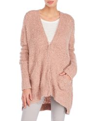 Free People | Purple Oversized Boucle Cardigan | Lyst