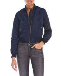 Romeo and Juliet Couture | Blue Bomber Jacket | Lyst