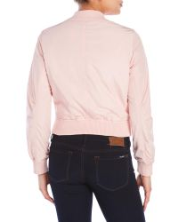 Romeo and Juliet Couture - Pink Bomber Jacket - Lyst