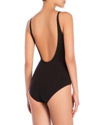 Annaclub by La Perla - Black Surplice One-Piece Swimsuit - Lyst