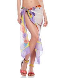 Emilio Pucci   Multicolor Floral Printed Pareo   Lyst