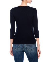 Philosophy | Blue Ribbed Sweater | Lyst