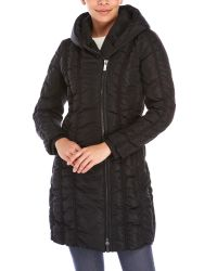 Zac Zac Posen | Black Hooded Grosgrain Down Jacket | Lyst