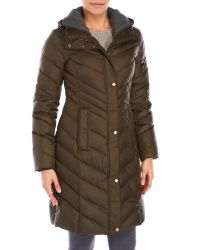Andrew Marc | Green Hooded Down Parka | Lyst