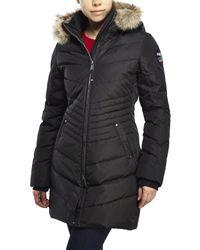 Pajar | Black Fur-trimmed, Down Parka | Lyst