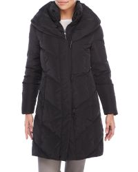 Lauren by Ralph Lauren   Black Toggle Coat With Pillow Collar   Lyst
