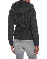 Zac Posen - Black Emily Hooded Asymmetrical Down Coat - Lyst