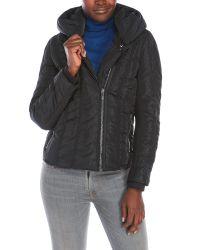 Zac Posen | Black Emily Hooded Asymmetrical Down Coat | Lyst