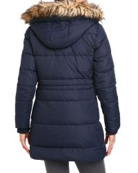 Lauren by Ralph Lauren - Blue Cold Weather Hooded Down Coat - Lyst
