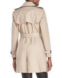 Lauren by Ralph Lauren - Natural Petite Belted Trench Coat - Lyst