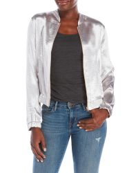 Re:named | Metallic Silky Bomber Jacket | Lyst
