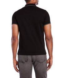 Roberto Cavalli - Black Tipped Logo Pique Polo for Men - Lyst
