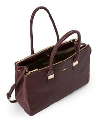 Furla - Multicolor Bordeaux Amelia Large Leather Tote - Lyst