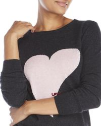 Ply Cashmere - Multicolor Heart Cashmere Sweater - Lyst