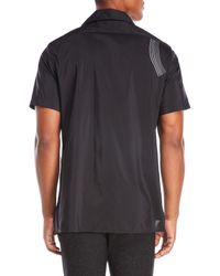 Lanvin - Black Wave Embroidered Shirt for Men - Lyst