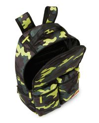 Sprayground Green Neon Camo Backpack for men