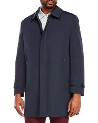 Cardinal Of Canada - Blue Mccord Fly Front Zip Coat for Men - Lyst