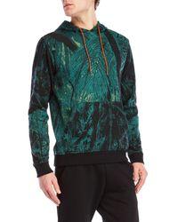Iuter - Green Printed Knit Hoodie for Men - Lyst