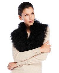 Adrienne Landau - Black Lamb Fur Stole - Lyst