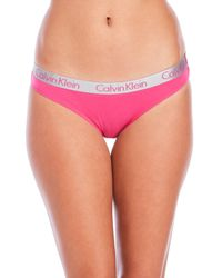 Calvin Klein | Pink Radiant Cotton Bikini Panty | Lyst
