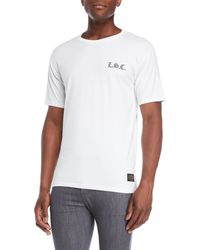 Levi's White Gothic Checker Back Tee for men