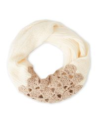 Betsey Johnson   Natural Winter Bloom Infinity Scarf   Lyst