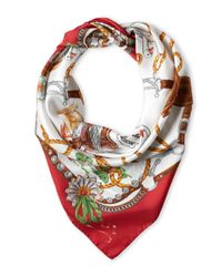 Boutique Moschino | Red Silk Saddle Scarf | Lyst