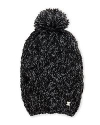 Laundry by Shelli Segal - Black Boucle Slouchy Pom-pom Beanie - Lyst