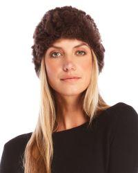 Yves Salomon - Brown Real Rabbit Fur Headband - Lyst