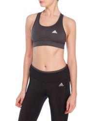 Adidas Originals | Gray Adibase Bra | Lyst
