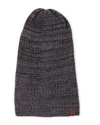 Timberland - Gray Charcoal Slouchy Knit Beanie for Men - Lyst