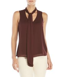 J Brand - Brown Giovanne Tie Blouse - Lyst