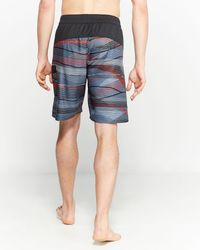 Adidas Red Transit Contrast Pattern Board Shorts for men