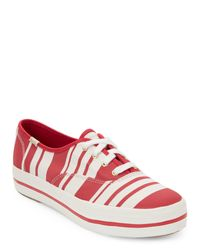 Keds   Red & Off White Triple Kick Platform Sneakers   Lyst