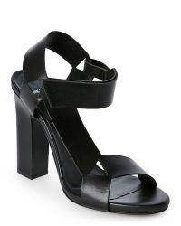 Pierre Hardy | Black Crystalembellished Suede Sandals | Lyst