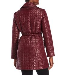 Kate Spade - Red Quilted Belt Jacket - Lyst